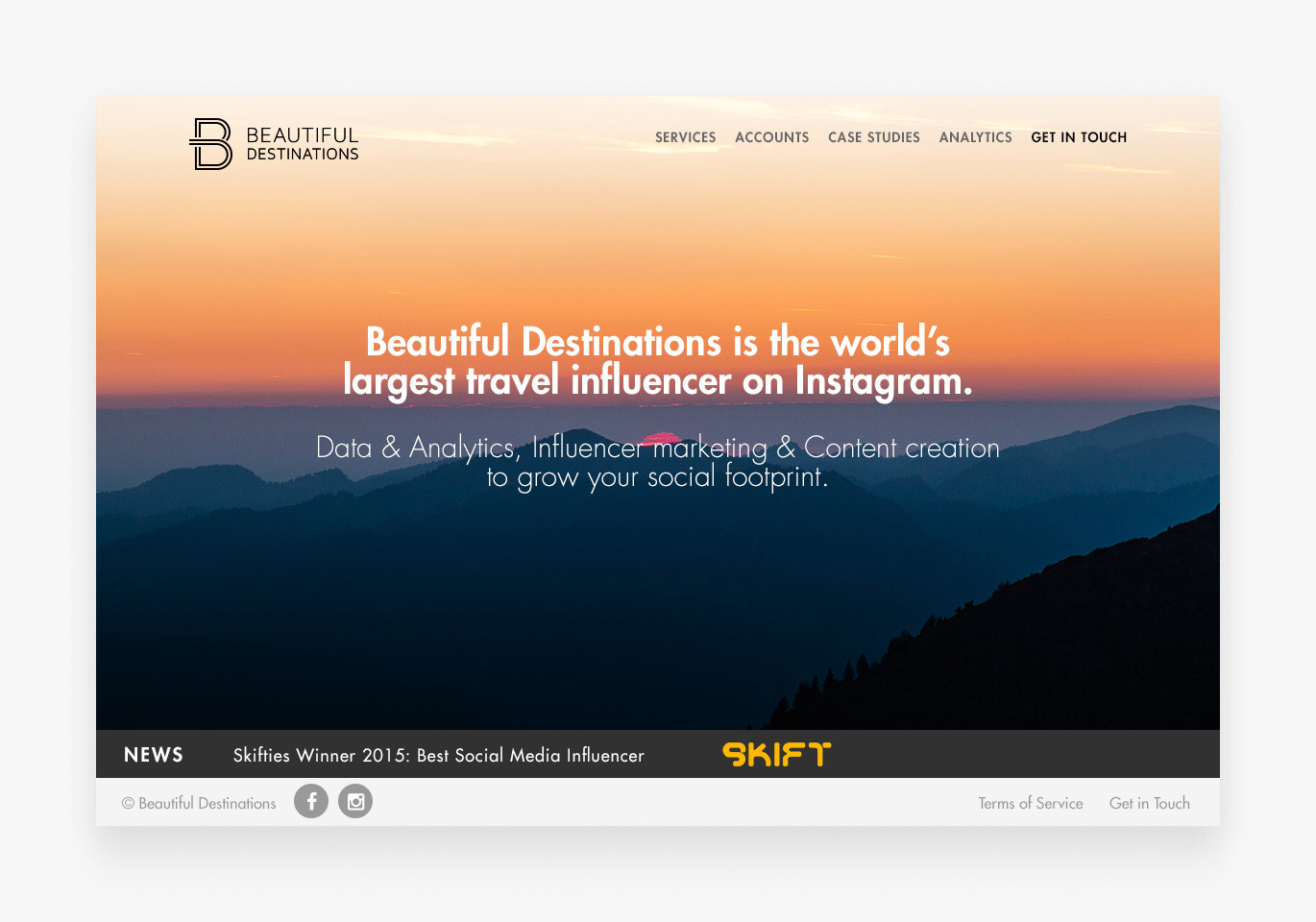 Beautiful Destinations - Website