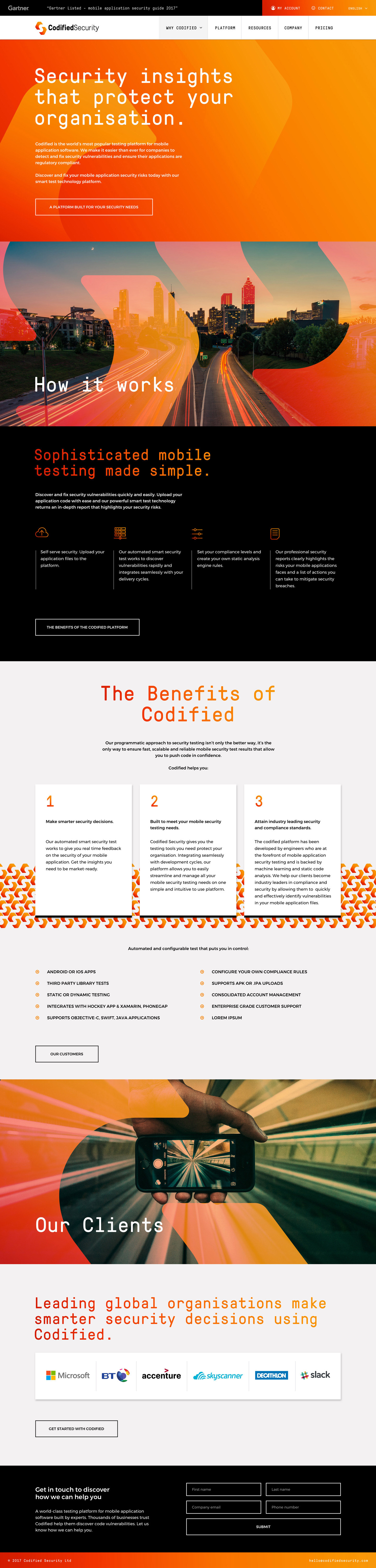 Codified Security - Website